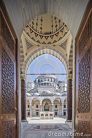 Gate to court yard of Suleymaniye Mosque