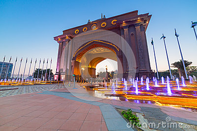 Gate to the Emirates Palace in Abu Dhabi Editorial Photography