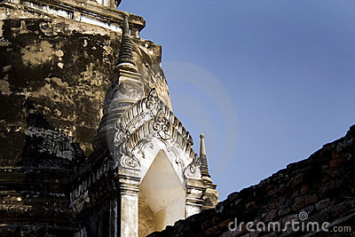 Gate to a inner chamber, ayuttaya temple, thailand