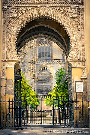 Gate to La Giralda in Sevilla