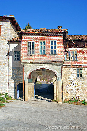 Gate to medieval orthodox monastery