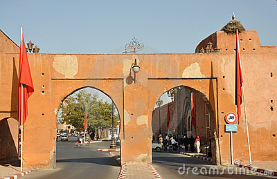 Gate to the medina, Marrakesh Editorial Image