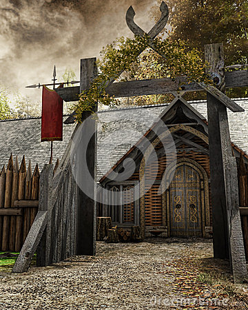 Free Gate To Old Settlement Royalty Free Stock Photography - 43192027