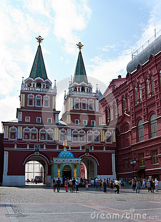 The Gate to the Red Square Editorial Photography