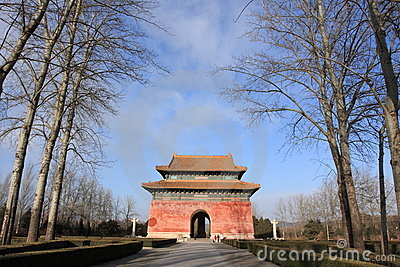 Gate to sacred road of Ming Dynasty Tombs in B