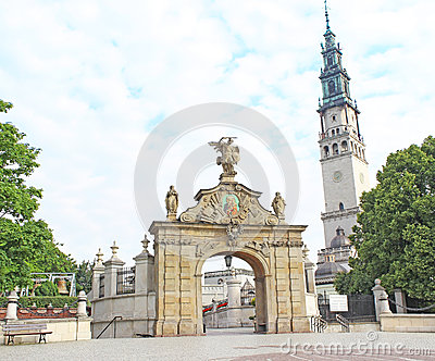 Gate to the shrine of Jasna Gora in Czestochowa