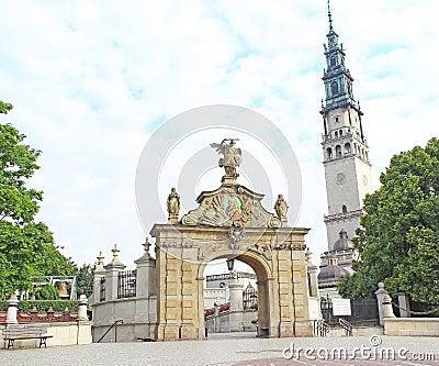 Gate to the shrine of Jasna Gora in Czestochowa