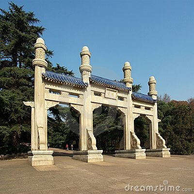 Gate to Sun Yat-Sen Mausoleum