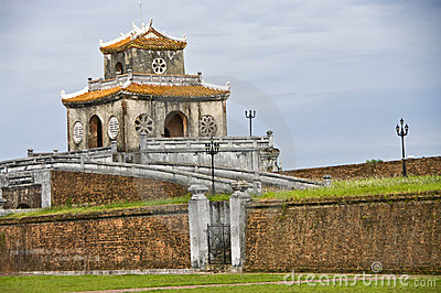 Gate tower in the Citadel wall, Hue