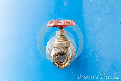 Gate Valve used in household, industrial, agriculture and sanitary places for water supplying. Stock Photo