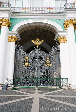 Gate of the Winter Palace. The Hermitage
