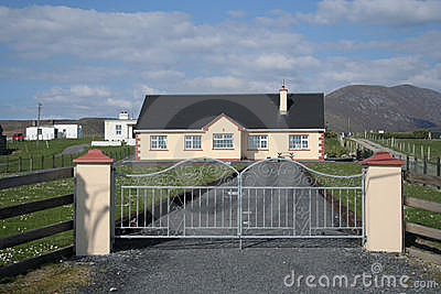 Gated drive and house