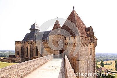 Gatehouse chateau de biron, dordogne france