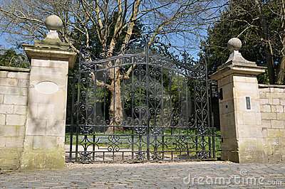 Gates and Driveway of a Stately Home