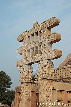 Gates of Great Stupa at Sanchi
