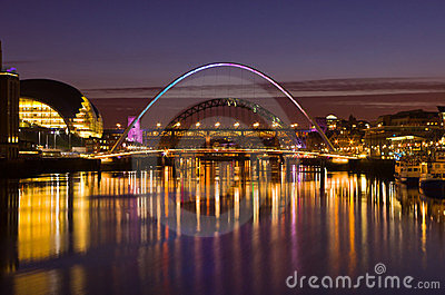 Gateshead and Newcastle at Sunset