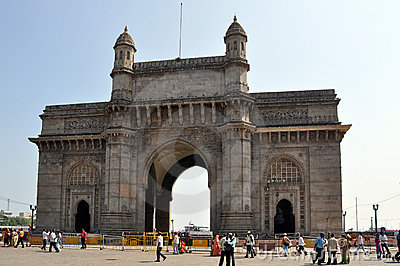 Gateway of India in Mumbai Editorial Photography