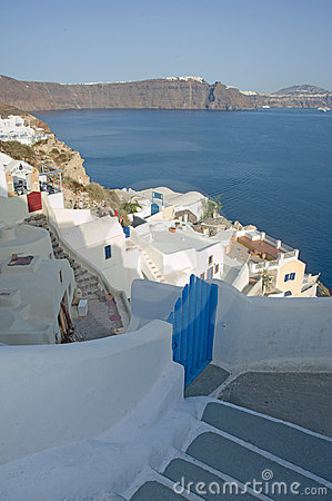 Gateway to the Aegean and Caldera. Editorial Photography