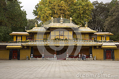 Gateway to the Summer Palace - Lhasa - Tibet Editorial Photo