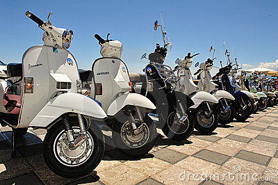 Gathering vespa piaggio Editorial Stock Photo