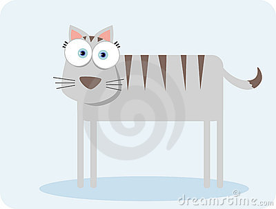 Gato com olho grande