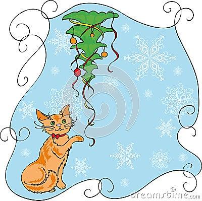 Gato e árvore