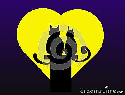 Gatos de la tarjeta del día de San Valentín