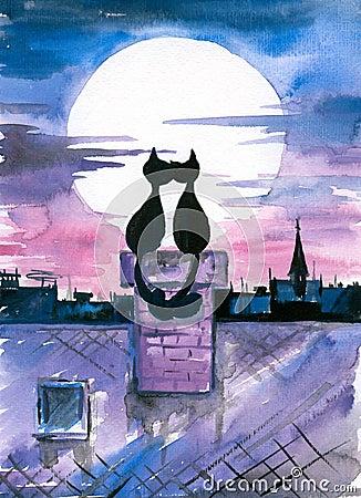 Gatos en amor.
