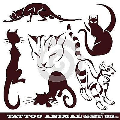 Gatos para o tatuagem