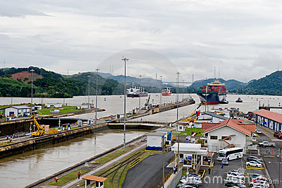 Gatun Lake to the Panama  Canal Editorial Stock Photo