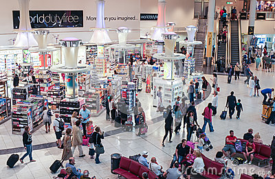Gatwick Airport Duty Free Shopping Editorial Photography