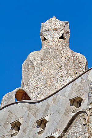 Gaudi Chimneys at Casa Mila, Barcelona Spain
