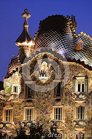 Gaudi house. Casa Batllo