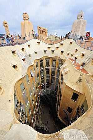 Gaudi s Casa Milla - Barcelona, Spain Editorial Photography