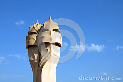 Gaudi s chimneys, Barcelona, Spain
