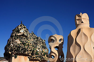 Gaudi s Works. La Pedrera. Soldiers chimneys