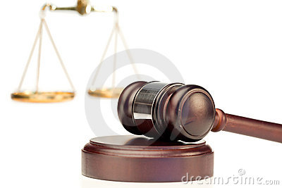 Gavel κλίμακα δικαιοσύνης