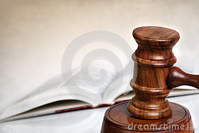 Gavel with Book and Copy Space