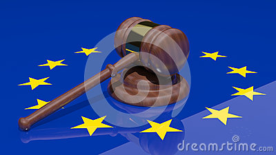 Gavel and european flag