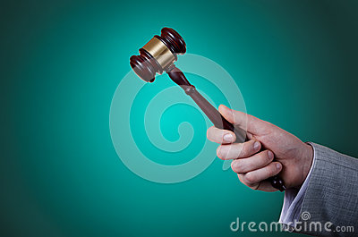 Gavel in the hand