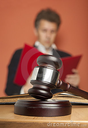Gavel and Person in Suit