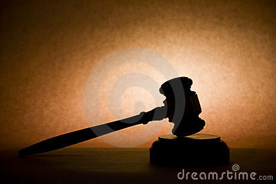 Gavel in Silhouette