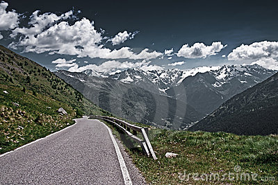 The Gavia Pass In Italy