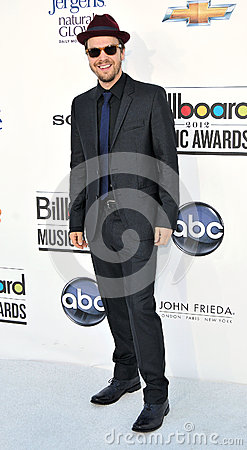 Gavin Degraw arrives at the 2012 Billboard Awards Editorial Stock Photo