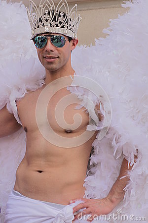 Gay angel Editorial Stock Image