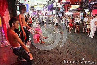 Gay bar on Walking Street in Pattaya Editorial Photography