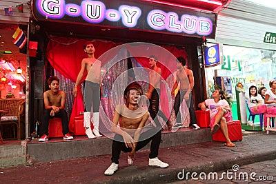 Gay Club on Walking Street in Pattaya Editorial Image