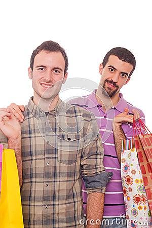 Gay Couple Shopping