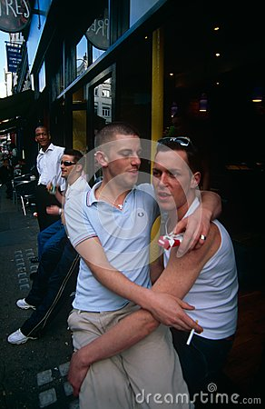 A gay couple in Soho Editorial Image