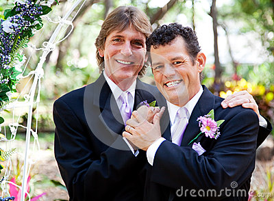 Gay Couple - Wedding Portrait